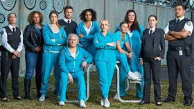 The cast of Wentworth, streaming on Foxtel Now
