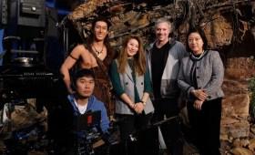 Filmmakers face camera