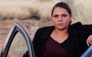 Indigenous actress Rarriwuy Hick looks seriously at the camera