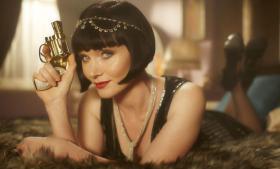 Essie Davis as Miss Phryne Fisher in Miss Fisher's Murder Mysteries