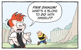 Ginger Meggs cartoon panel