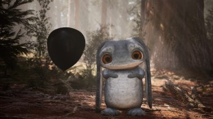 Cute animated creature from Never Alone with huge eyes. Created in Unreal Engine.