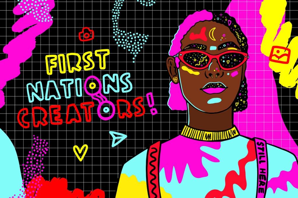 First Nations Creators Program art Design by Jessica Johnson, Nungala Creative via Screen Australia