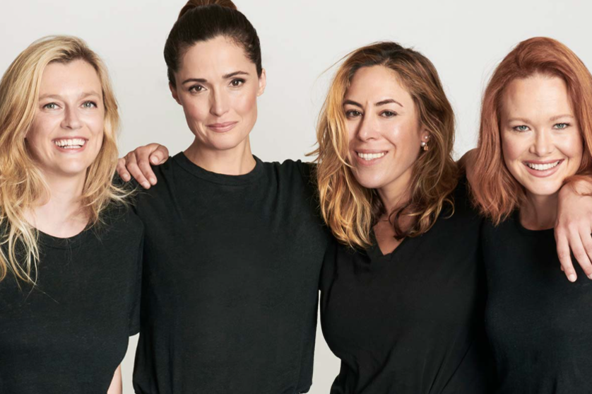Group of confident women who run production company Dollhouse Pictures