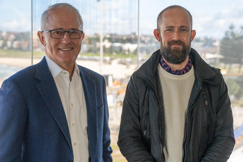 Malcolm Turnbull and Christiann Van Vuuren in Big deal