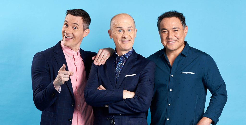 Ed Kavalee, Tom Gleisner, Sam Pang of Working Dog, responsible for The Cheap Seats