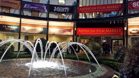 Fountain at American Film Market