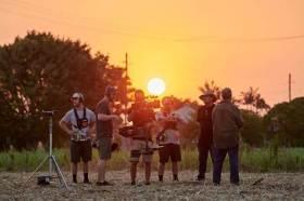Behind the scenes on Netflix Original feature film Sweet River. Image: Kane Skennar
